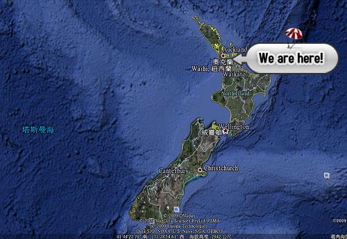 北岛示意图; 新西兰地理位置